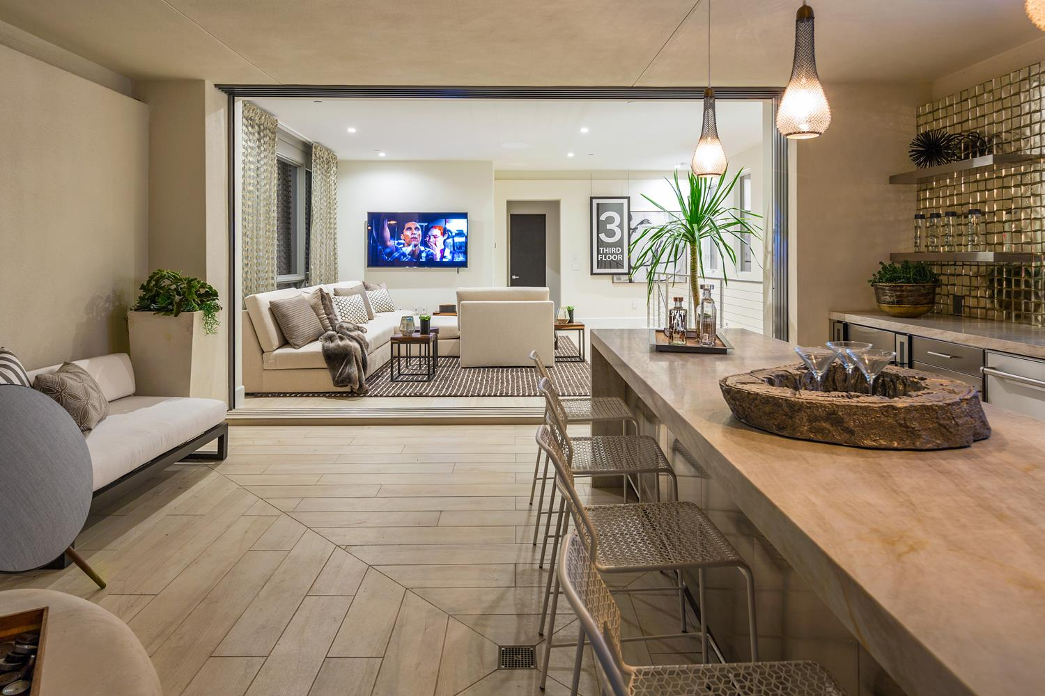 Covered deck to loft | 5900 Village Drive | Jewel at Playa Vista in Los Angeles, CA | Brookfield Residential