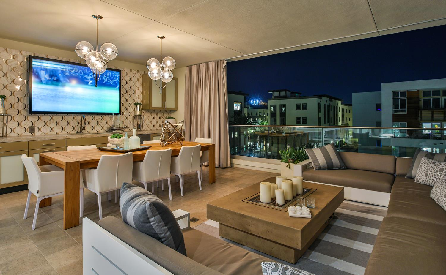 Covered deck | 5904 Village Drive | Jewel at Playa Vista in Los Angeles, CA | Brookfield Residential