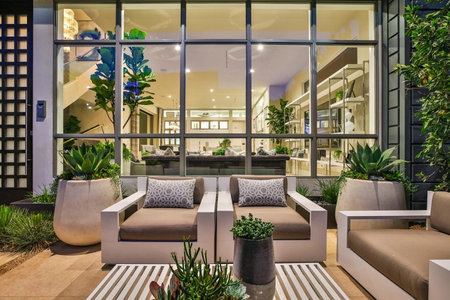 Front seating area | 5904 Village Drive | Jewel at Playa Vista in Los Angeles, CA | Brookfield Residential