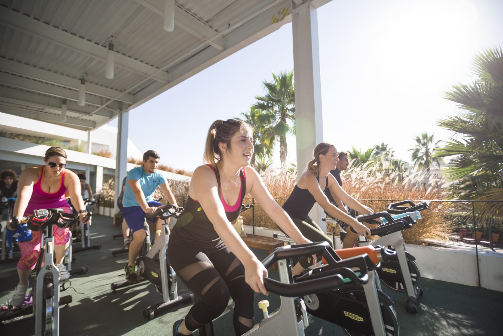 Spin class at Playa Vista in Los Angeles, CA | Brookfield Residential
