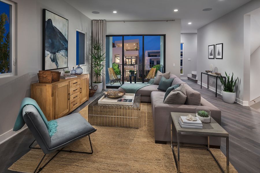 Great Room | The Collection at Playa Vista in Los Angeles, CA | Brookfield Residential