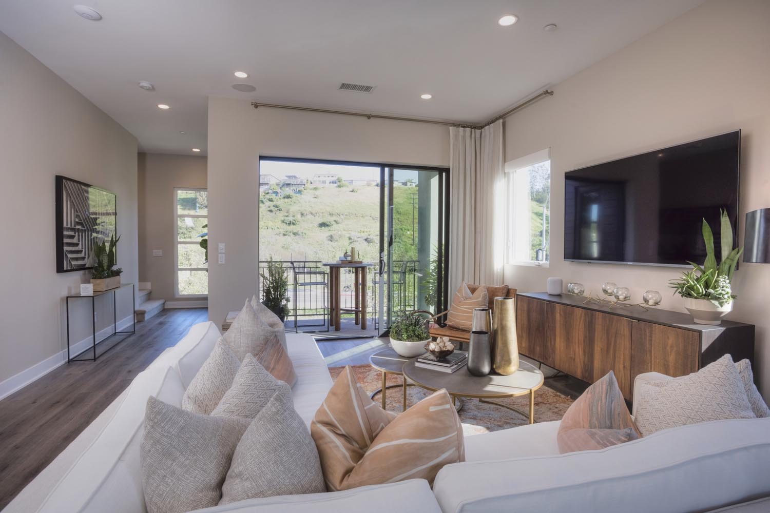 Residence 1 Living Room | The Collection at Playa Vista in Los Angeles, CA | Brookfield Residential