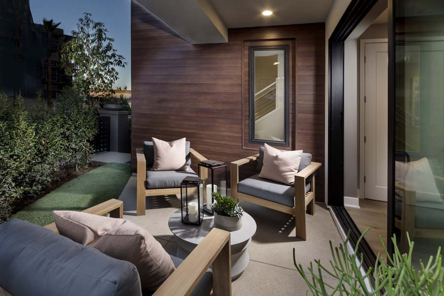 Front Patio | The Collection at Playa Vista in Los Angeles, CA | Brookfield Residential