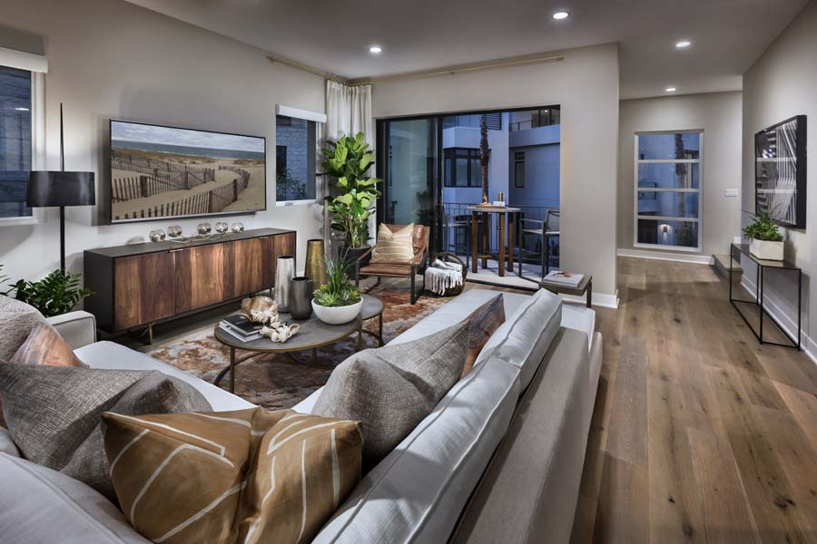 Great Room/Deck | The Collection at Playa Vista in Los Angeles, CA | Brookfield Residential