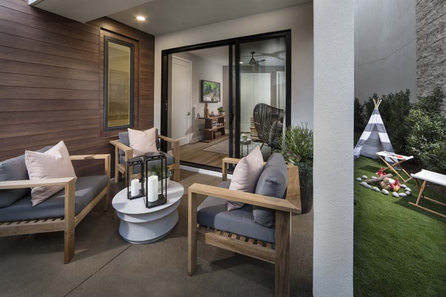 Front/Side Patio | The Collection at Playa Vista in Los Angeles, CA | Brookfield Residential