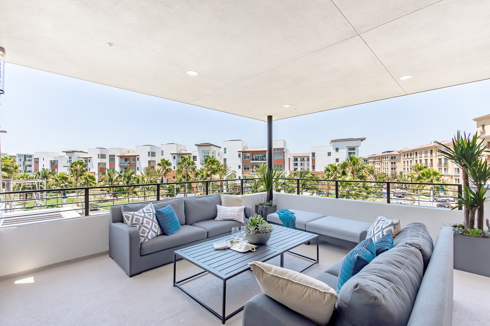 Residence 2 covered patio | The Collection at Playa Vista in Los Angeles, CA | Brookfield Residential