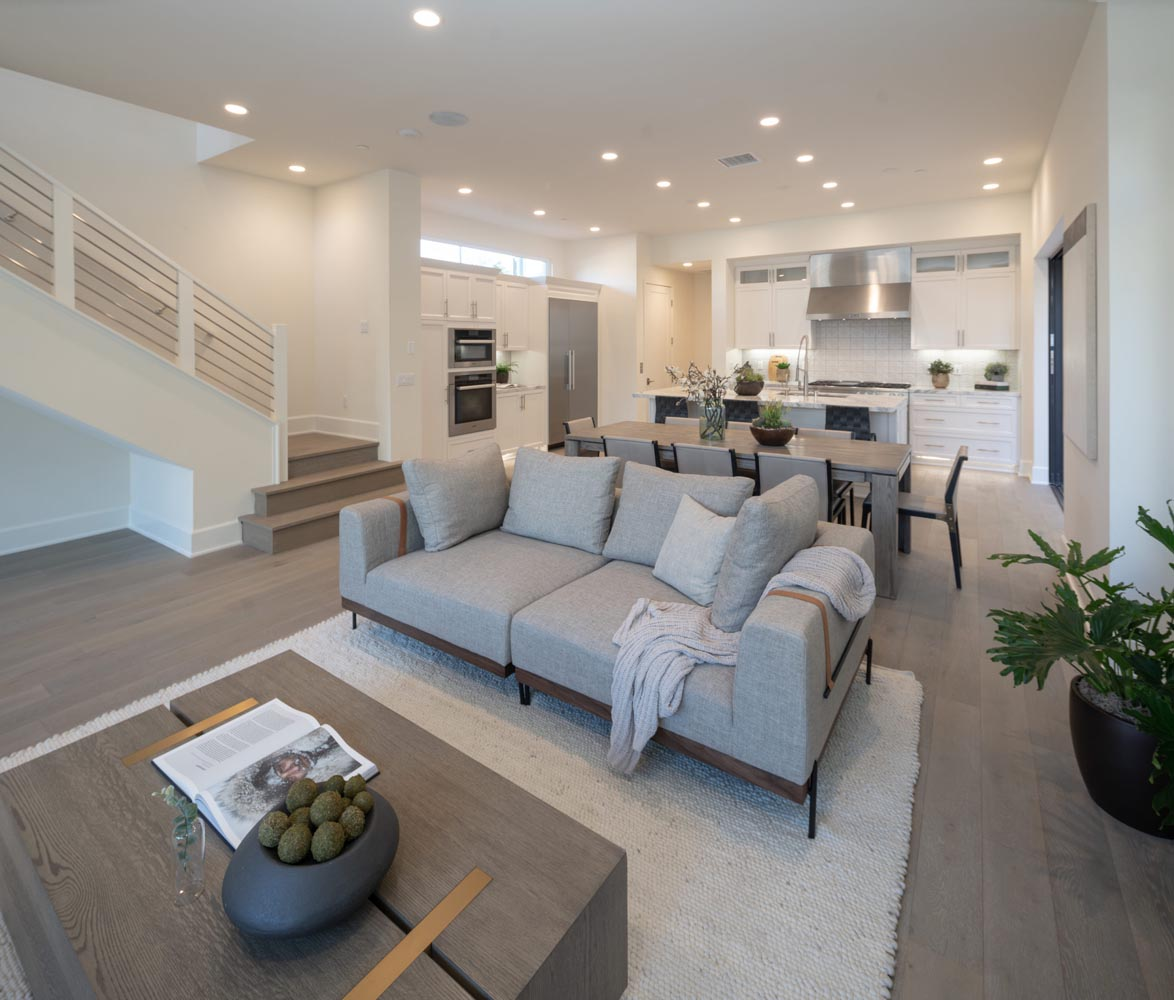 Residence 2 Great Room | The Collection at Playa Vista in Los Angeles, CA | Brookfield Residential