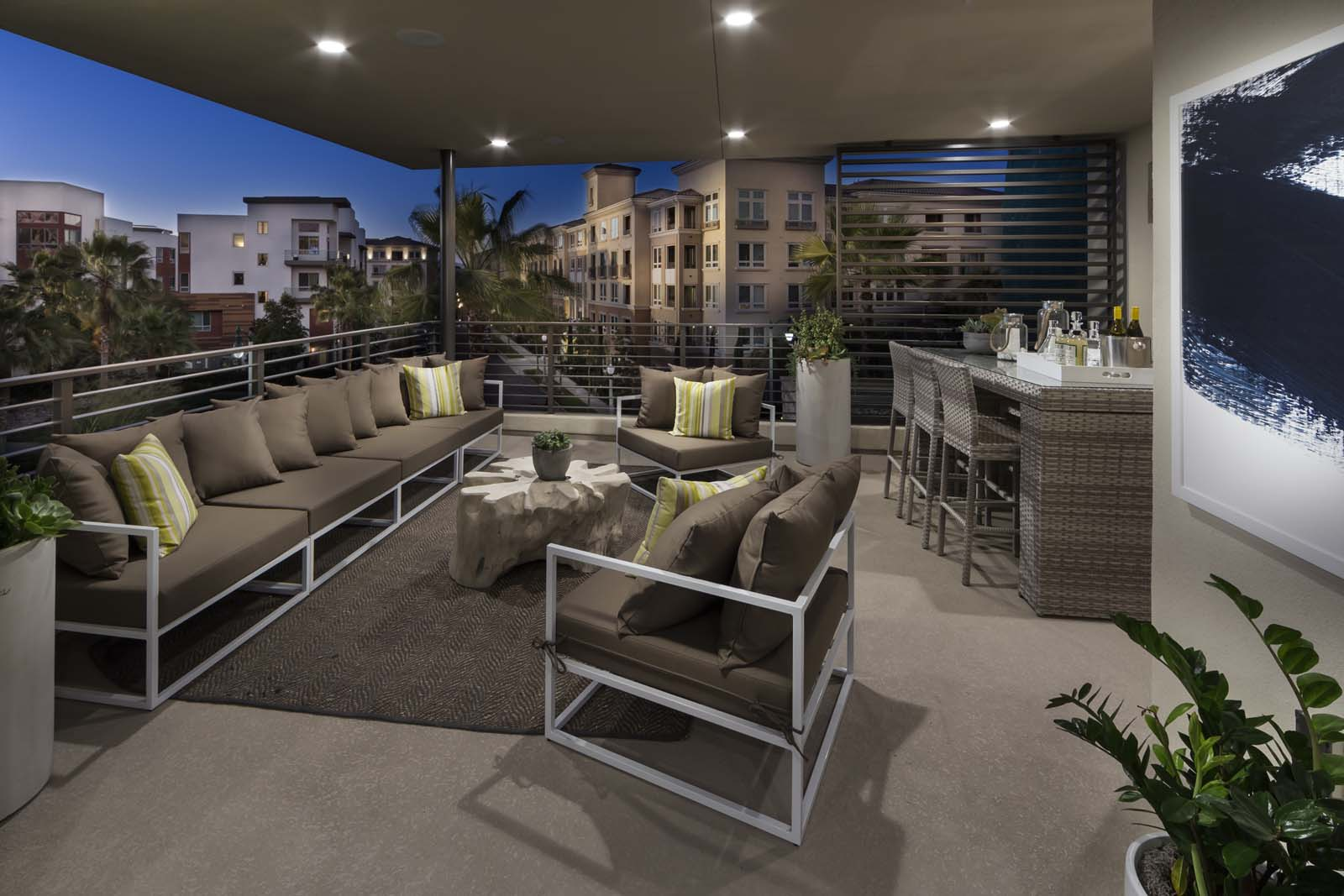 Covered Deck Residence 2 | The Collection at Playa Vista in Los Angeles, CA | Brookfield Residential