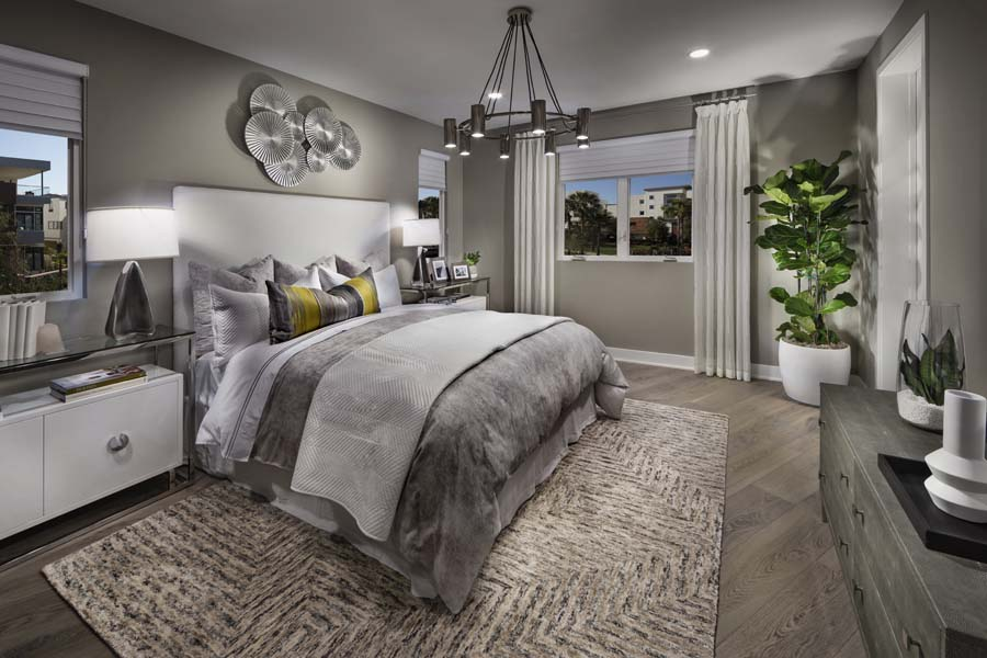 Guest Bedroom Residence 2 | The Collection at Playa Vista in Los Angeles, CA | Brookfield Residential