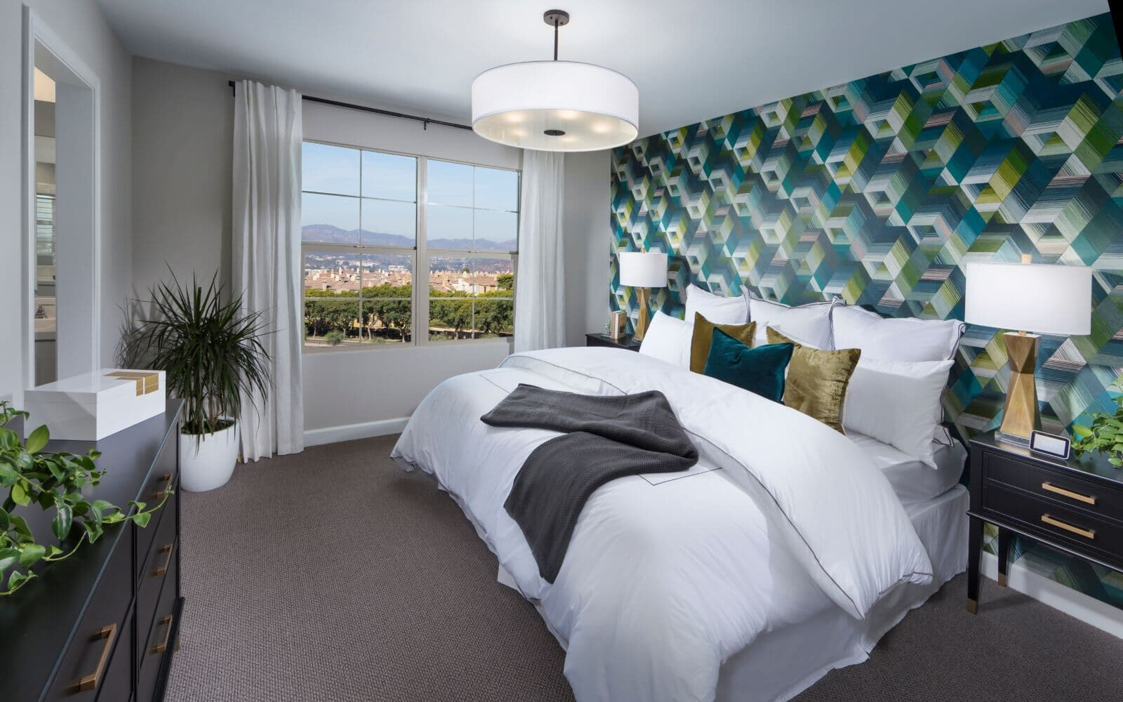 Master Bedroom in Residence 1 at Latitude at Rancho Tesoro in San Marcos CA
