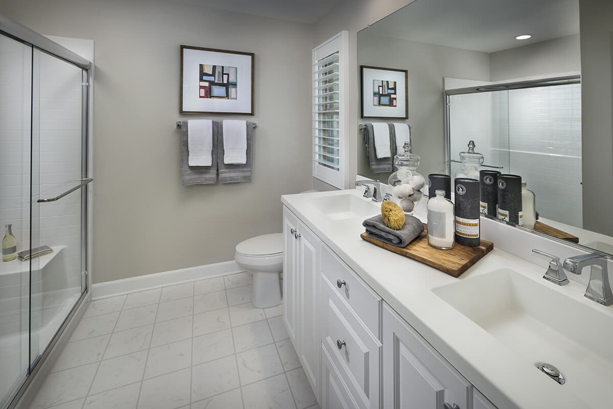 Residence 1 bathroom | Latitude at Rancho Tesoro in San Marcos, CA | Brookfield Residential
