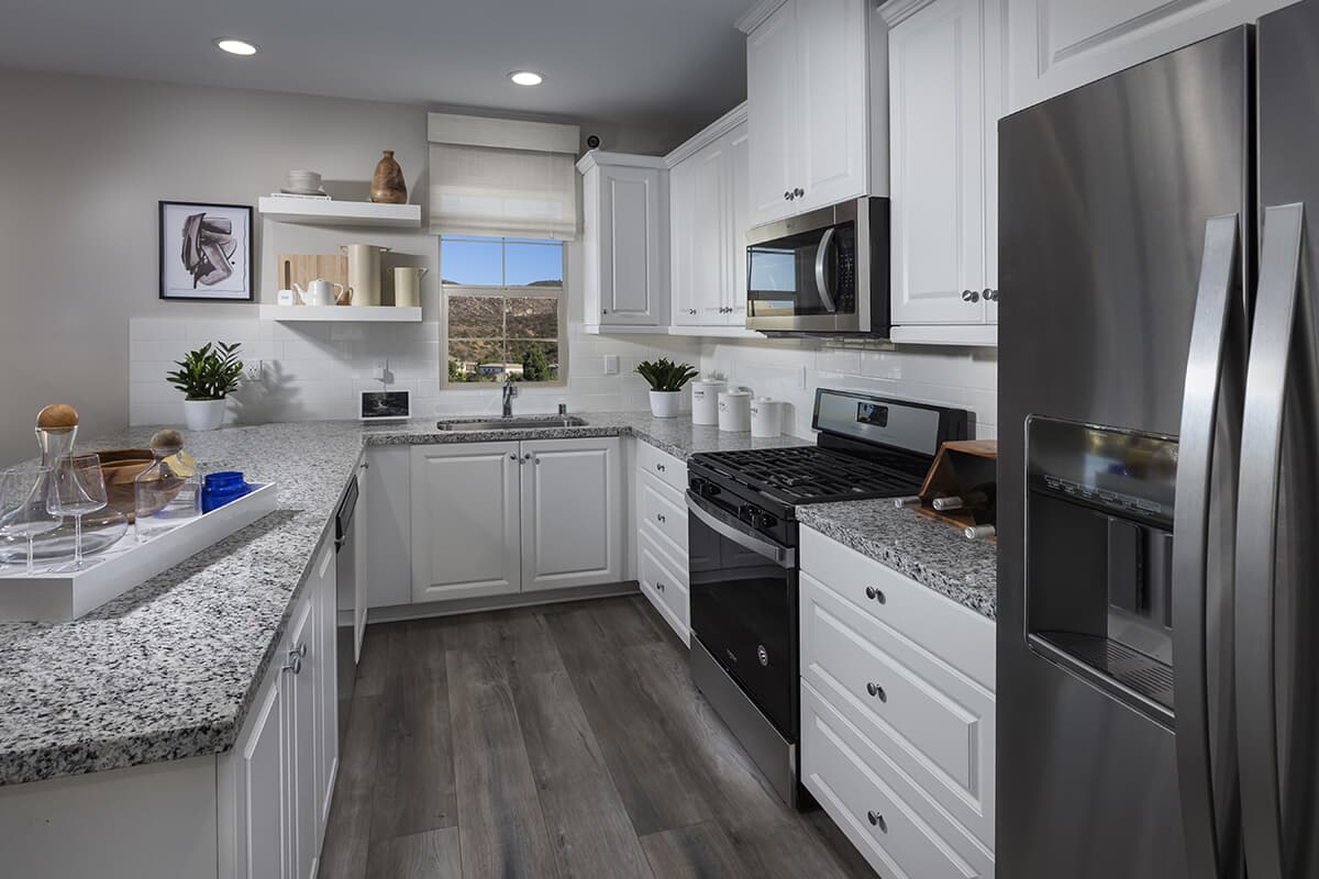 Residence 1 kitchen | Latitude at Rancho Tesoro in San Marcos, CA | Brookfield Residential