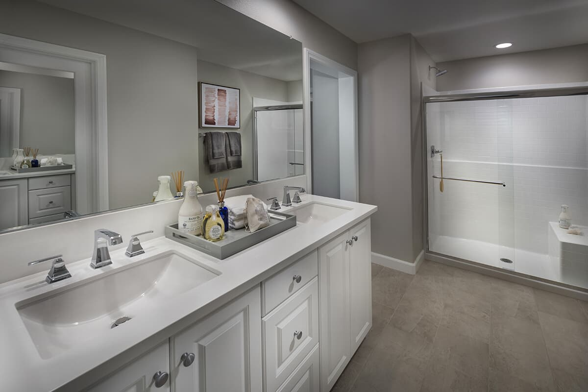 Residence 2 bathroom | Latitude at Rancho Tesoro in San Marcos, CA | Brookfield Residential