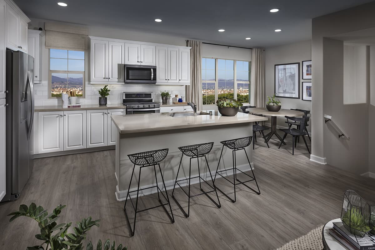 Residence 2 kitchen Latitude at Rancho Tesoro in San Marcos CA Brookfield Residential