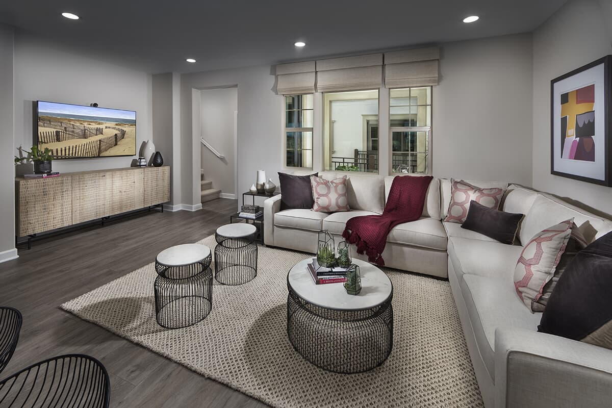 Residence 2 living room Latitude at Rancho Tesoro in San Marcos CA Brookfield Residential