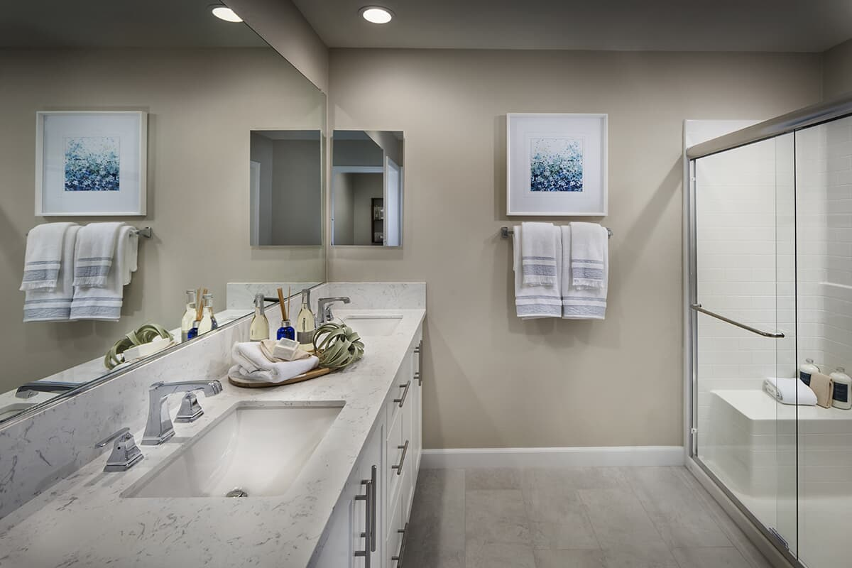 Residence 3 bathroom Latitude at Rancho Tesoro in San Marcos CA Brookfield Residential