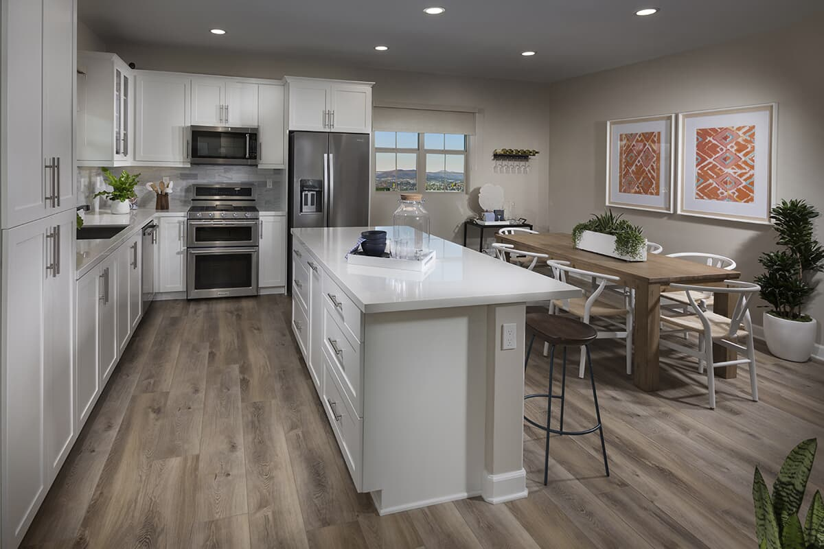 Residence 3 kitchen Latitude at Rancho Tesoro in San Marcos CA Brookfield Residential