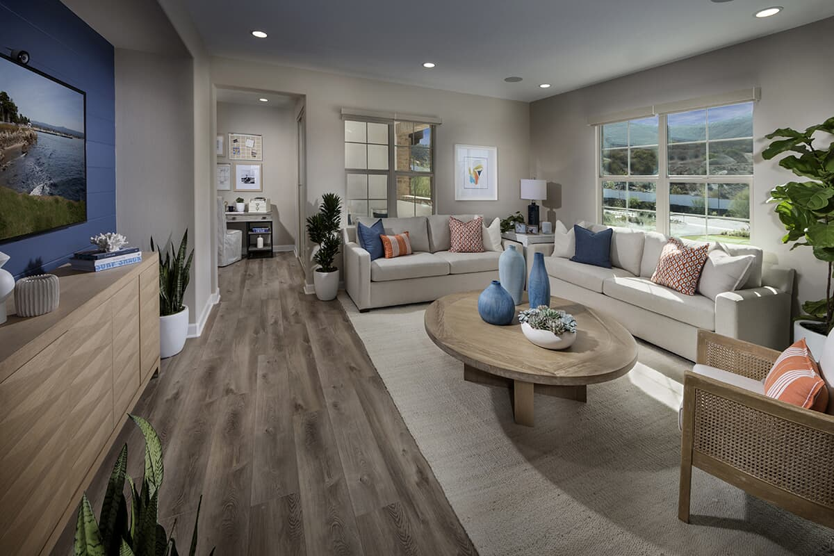 Residence 3 living room Latitude at Rancho Tesoro in San Marcos CA Brookfield Residential