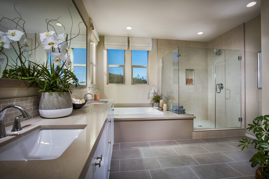 Residence 3 Master Bath | Terracina at Rancho Tesoro in San Marcos, CA | Brookfield Residential
