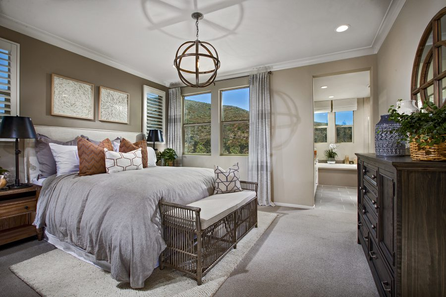 Residence 3 Master Bedroom | Terracina at Rancho Tesoro in San Marcos, CA | Brookfield Residential