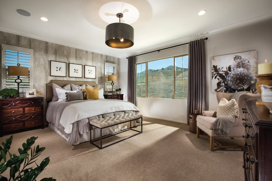 Residence 3 Master Bedroom | Vientos at Rancho Tesoro in San Marcos, CA | Brookfield Residential