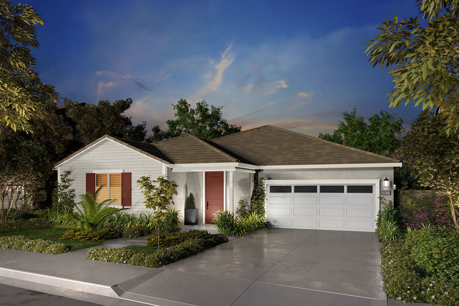 Residence 1B Rendering | Agave at Spencers Crossing in Riverside, CA | Brookfield Residential