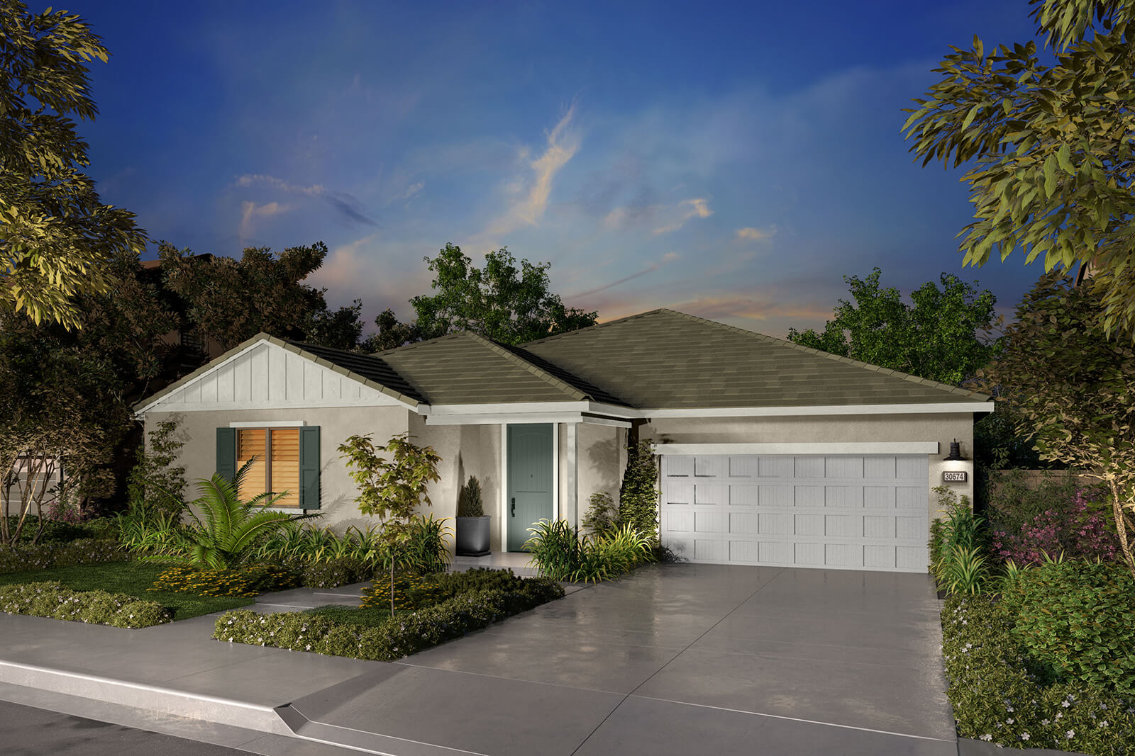 Residence 1C Rendering | Agave at Spencers Crossing in Riverside, CA | Brookfield Residential
