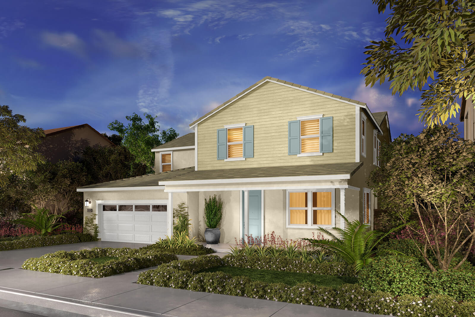 Residence 3BR Rendering | Agave at Spencers Crossing in Riverside, CA | Brookfield Residential