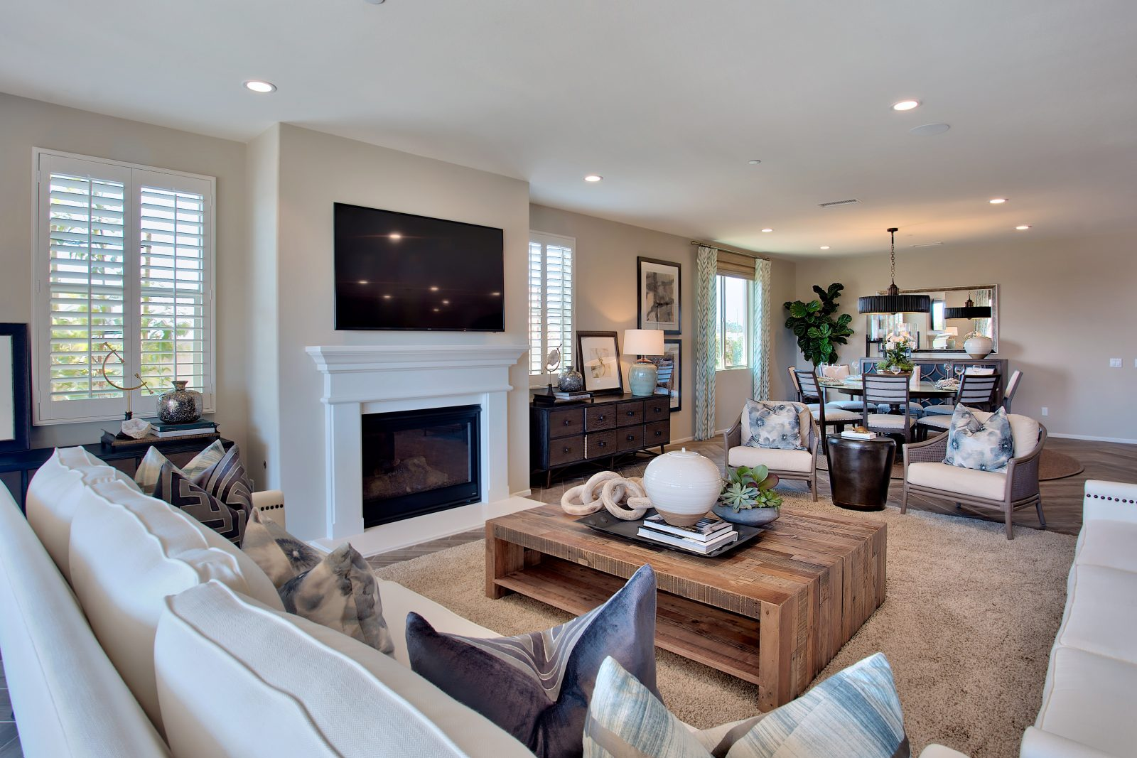 Living Room | Juniper at Spencers Crossing in Riverside, CA | Brookfield Residential