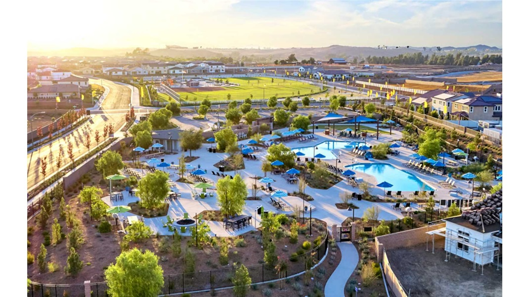 Aerial View The Oasis at Spencers Crossing in Riverside CA Brookfield Residential