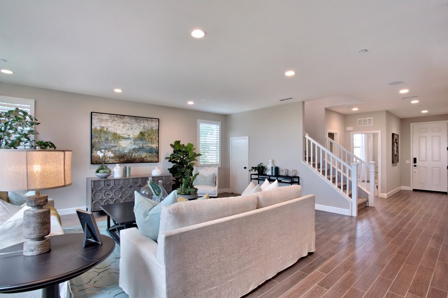 Great Room in a residence at Spencers Crossing in Riverside, CA | Brookfield Residential