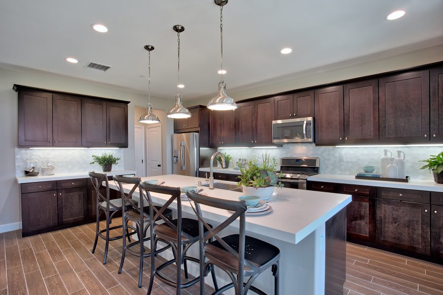 Kitchen in a residence at Spencers Crossing in Riverside, CA | Brookfield Residential