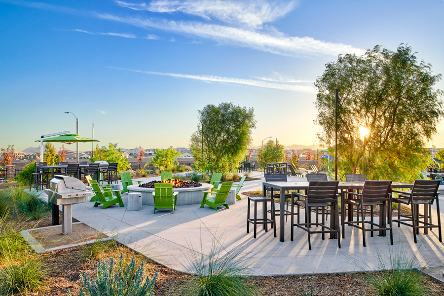 Seating Area | The Oasis at Spencers Crossing in Riverside, CA | Brookfield Residential