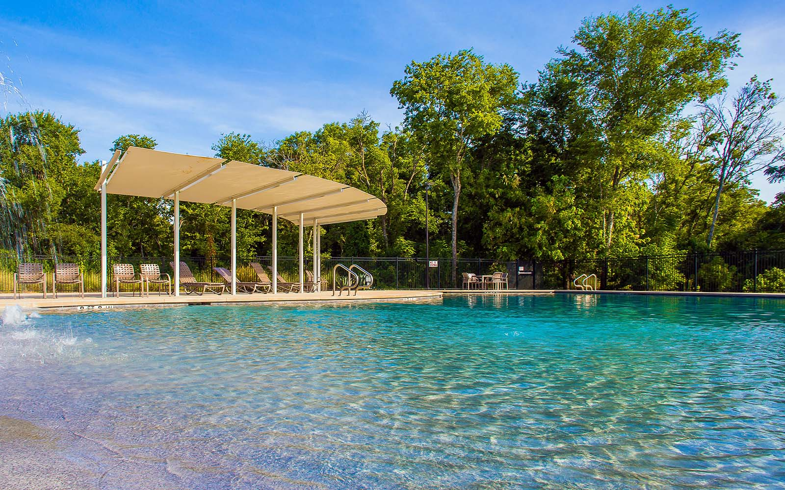 Pool at the amenity center at Addison in Austin, TX by Brookfield Residential