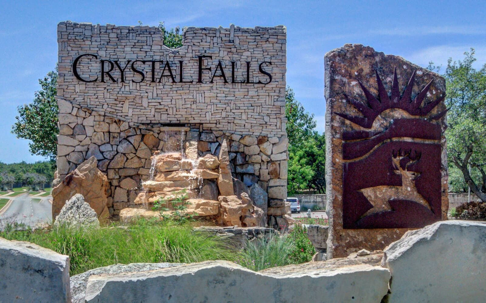 sign crystal falls dripping springs texas